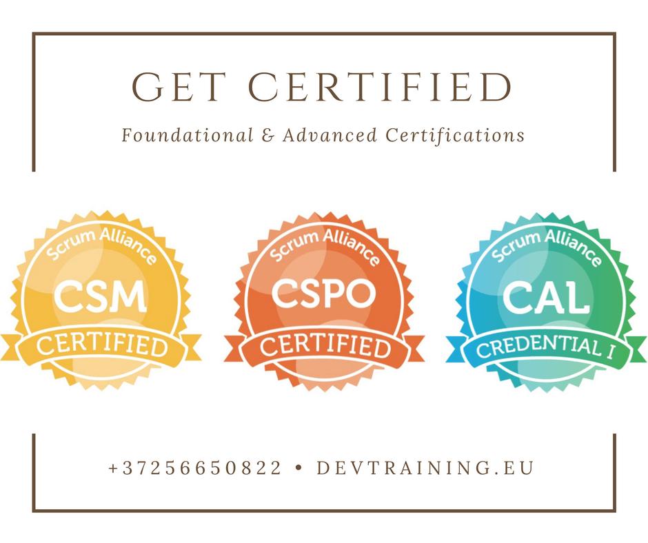 Scrum Certification Courses Devtraining
